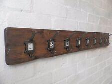 Vintage style Cloakroom School style Coat&Hat Rack with label frame hooks No1-10