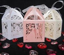Nouveau luxe faveur nuptiale Boîtes Bonbons Cadeau Décorations de table 3 couleurs pearlied