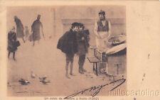 * AUTOGRAFO - Quadro in cartolina e Firma di V.Bignami 1907