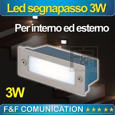 FARETTO LED SEGNAPASSO 3W ESTERNO INTERNO IP55 RETTANGOLARE 220V 503 3000k 6000k