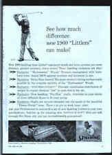 SPALDING 1960 GENE LITTLER Golf Clubs advertisement ad