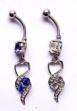 Elegant Heart Tassel Cute Teardrop Dangle BELLY NAVEL Piercing Jewelry Bar Ring