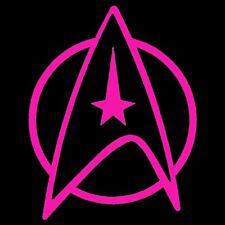 """Star Trek Federation Star Fleet   5"""" Vinyl Decal Stickers (2 Decals)"""