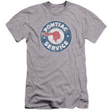 Pontiac Vintage Pontiac Service Mens Premium Slim Fit Shirt