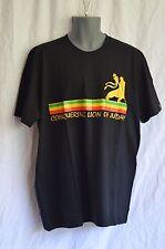 T-Shirt_Schwarz_Conquering Lion of Judah_Reggae, Jamaica