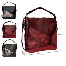 New Womens Faux Leather Shopper Bag Designer Style Shoulder Bag Girls Slouch Bag