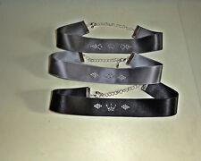Taft-halsband mit Strass, Trachten , 22 mm mit Swarovski Transfer-Strass ,
