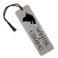 Winter Is Coming, Game Of Thrones, Stark Aluminium Metal Bookmark