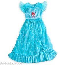 NEW Disney Store Princess Ariel Deluxe Nightgown Costume 5/6 7/8 Little Mermaid