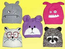 BELLE Bonnet pour enfants d'Hiver tricoté avec oreilles modèle au choix