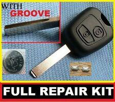 Peugeot 2 botón remoto fob clave Funda 107 207 307 206 306 406 Kit de reparación Wg