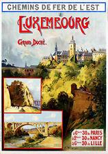 Affiche chemin de fer Est - Luxembourg