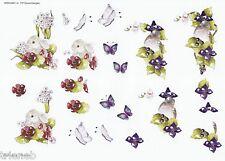 3D-Bogen-Blumen-Häschen-Vogel-Schmetterling-Wekabo-731