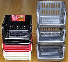 3tier IN PLASTICA VERDURA FRUTTA Cesto di impilamento CUCINA UFFICIO GARAGE Storage Rack