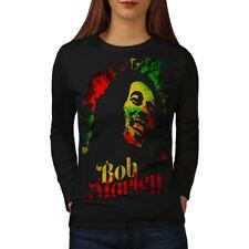 Marley Bob Weed Rasta Women Long Sleeve T-shirt NEW | Wellcoda