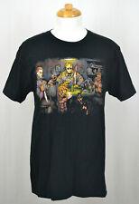 Slashers' Poker T-shirt Michael Jason Chucky Freddy Ghostface Graphic Tee Black