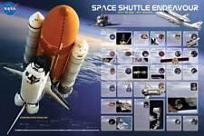 Educational Space Shuttle Endeavour - Weltraum Bildung Lernposter Druck