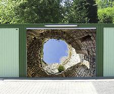 3D Grotte Bleu Ciel 989 Garage Porte Peint en Autocollant Murale AJ WALLPAPER FR