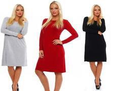 Robe femmes tunique col rond loisirs robe DELF 36 38 40 42 44