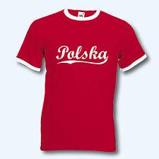 T-Shirt Retro-Shirt, EM Polen Polska, Ringer T, S-XXL