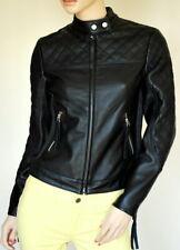 Women Leather Jacket Soft Solid Lambskin New Handmade Motorcycle Biker S M # 57