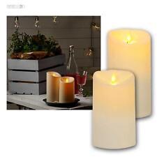 LED Kerzen Twinkle für Außen creme 6/18h Timer, Kunststoff Außenkerze elektrisch