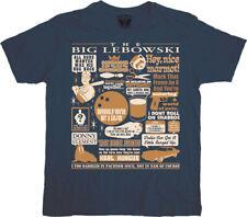 Big Lebowski Quote Mashup Navy T-shirt