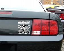 Ich denke an Flugzeuge Schriftzug Aufkleber Sticker Autoaufkleber
