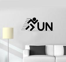 Wall Decal Running Inscription Words Symbol Logo Vinyl Sticker (ed1158)