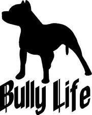 Bully Life with Pitbull vinyl decal/sticker