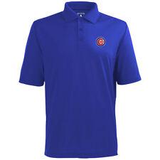 Chicago Cubs Antigua Embroidered Pique Xtra-Lite Blue Polo Golf Shirt