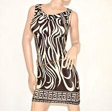 Mini abito donna vestito giromanica aderente con cintura elastico estivo 81