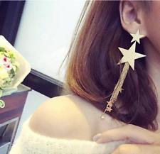 Women Fashion Jewelry Lady Elegant  stars Long  Stud Earrings 1Pair
