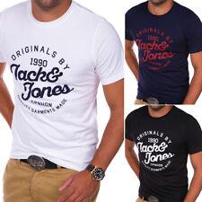 JACK & JONES T-Shirt Rundhals Herren Poloshirt Kurzarm Schwarz/Weiß/Navy NEU