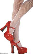 HALLOWEEN COSTUME~LADIES PLATFORM MARY JANE SHOES~RED OR WHITE~SIZE 5/6~7/8~NIB