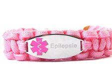 Medizinisches Notfall Armband-Paracord Armband-Graviert-Epilepsie-Verstellbar