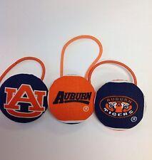 Auburn Tigers - Lot Of THREE Ponytail hair accessories.  WAR EAGLE !!!!