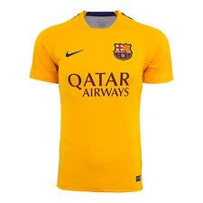 Nike FC Barcelona Original SS PM Training Top 2 Soccer Jersey-University Gold