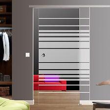 Soft Stop Slim Line Glasschiebetür Glas Schiebetür Dekor M4_AS
