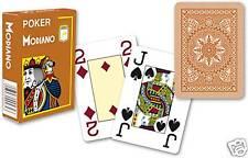 Modiano Voll Plastik Romme Karten 52er Blatt 3 Joker Braun Spielkarten