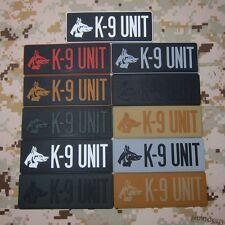 k-9 UNIT K9 Dog paw Morale of tactical military 3D PVC Patch