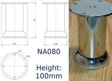 Polished Chrome Steel Furniture Legs/Feet Sofa Plinth Cupboard Cabinets NA080