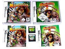 Spiele: MADAGASCAR TEIL 1 & 2 / Kinderspiele für Nintendo DS + Lite