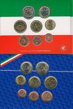 KMS Stempelglanz Italien 2002 8 Münzen €.C.O.-Satz (M00021)