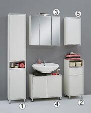 'Zamora' Matching Bathroom Units / Suite. Minimalist Design, White Finish.