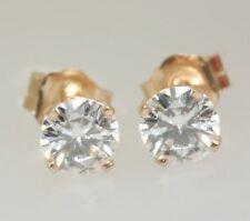 1.00ct Genuine GIA Certified I1 Diamond 14K Stud Earrings VERY SPARKLY