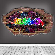 3d GRAFFITI modèle personnalisé brique Art Mural Autocollant Décalque wsdpgn93