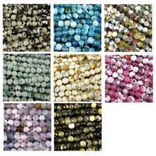 60+ Cuerdas Semi-Preciosas Ágata fabricación de joyas redonda con cuentas de 8 Colores 6 mm No.22