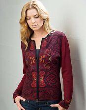 100% Baby Alpaca Handmade Reversible Arabesque Cardigan Sweater, 3 Colors