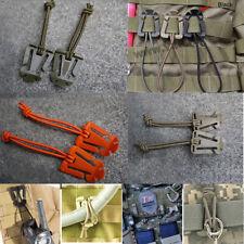 4X EDC Military Dominator Elastic Cord Hang Buckle Clip PALS MOLLE WebbingC LTA